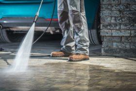 Cleaning Driveway Organic Powerwash Fertilizer Stains