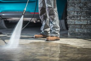 Cleaning Driveway Organic Powerwash Fertilizer Stains