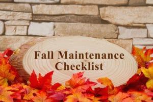 Fall Maintenance Checklist Organic Fertilizer Schedule