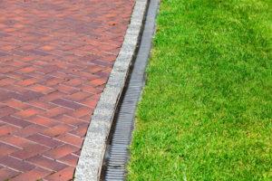 water runoff grass green